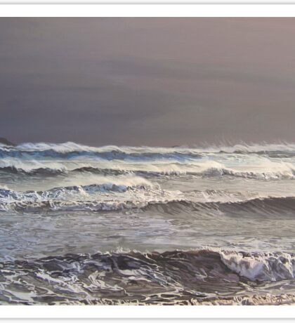Storm Darwin Over Ballycotton Bay From Garryvoe Sticker