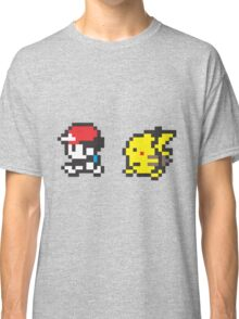 Red and Pikachu Stroll Classic T-Shirt