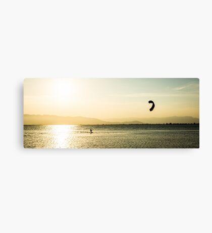 Late kitesurfing Canvas Print