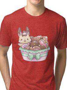 Bunny's Cookie Basket  Tri-blend T-Shirt