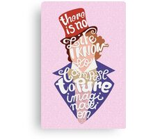 Willy Wonka And The Chocolate Factory Inspired Typography Canvas Print