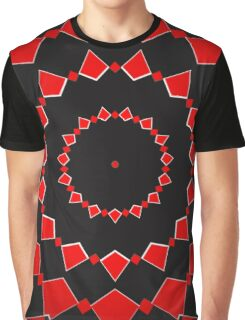 Black on Red. Graphic T-Shirt
