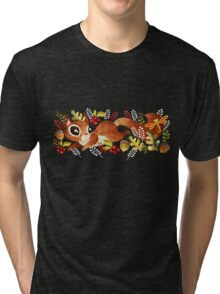Playful Squirrel Tri-blend T-Shirt