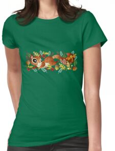 Playful Squirrel Womens Fitted T-Shirt