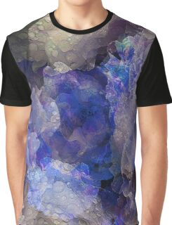 Blue Peony Flowers Graphic T-Shirt