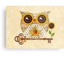 Owl's Autumn Song Metal Print