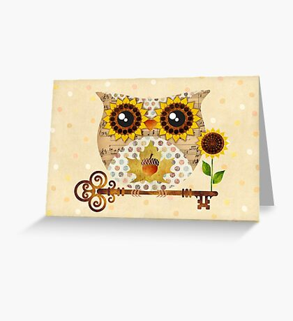 Owl's Autumn Song Greeting Card