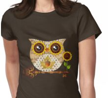 Owl's Autumn Song Womens Fitted T-Shirt