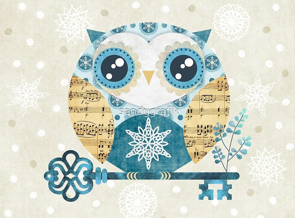 Winter Wonderland Owl by sandygrafik