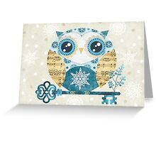 Winter Wonderland Owl Greeting Card