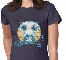 Winter Wonderland Owl Womens Fitted T-Shirt