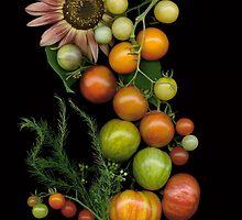 Heirloom Tomato S Curve by Ellen Hoverkamp