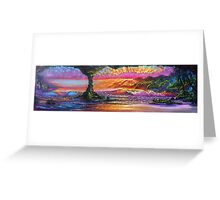 Lava Tube Fantasy- Warm and Cool Greeting Card