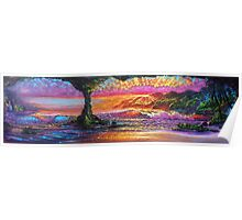 Lava Tube Fantasy- Warm and Cool Poster