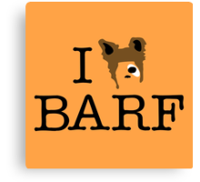 I Heart Barf Canvas Print