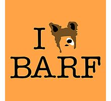 I Heart Barf Photographic Print