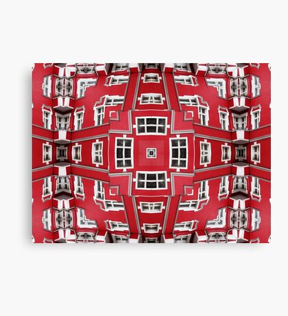 Impossible Architectures: red facade of house in Berlin  Canvas Print