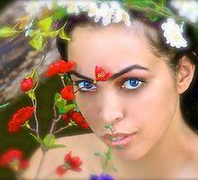Flowers in Her Hair, Flowers Everywhere by Barbara  Brown