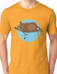 LAZY BEAR ON A BRANCH Unisex T-Shirt