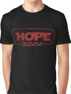 Hope (Aurebesh) Graphic T-Shirt