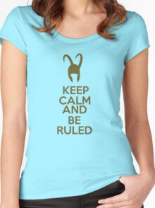 Keep Calm and Be Ruled Women's Fitted Scoop T-Shirt