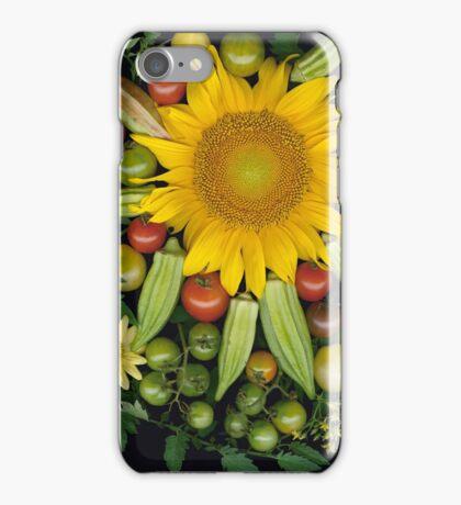 Sunflower, Okra Mosaic iPhone Case/Skin
