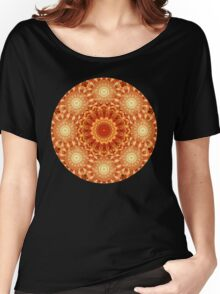 Heart of Fire Mandala Women's Relaxed Fit T-Shirt