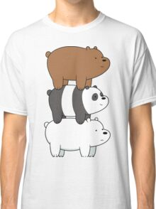 We Bare Bears - Stacked Up - Right Face Classic T-Shirt