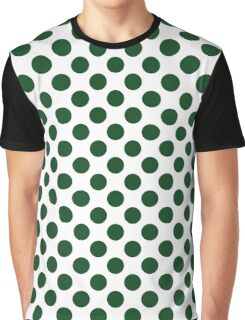 Forest Green Polka Dots Graphic T-Shirt