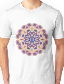Colorful mandala violet and orange Unisex T-Shirt