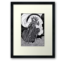 Woman with a flag  Framed Print