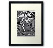 Woman with a flag II (Ships) Framed Print
