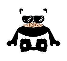 Mustache Hella Cool Panda Photographic Print