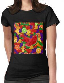 Summer fruits  Womens Fitted T-Shirt