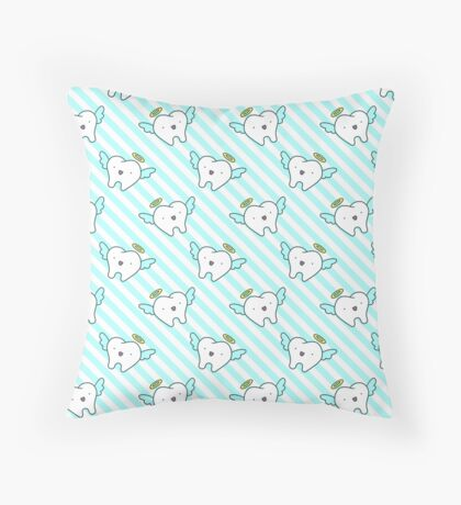 Tooth Angel Stripes Pattern Throw Pillow