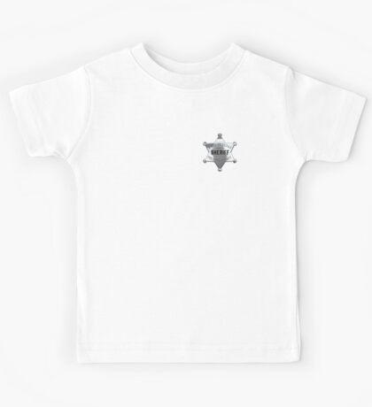 SHERIFF, Lawman, Sheriff badge, Texas, State of Texas, Presidio, County Kids Tee