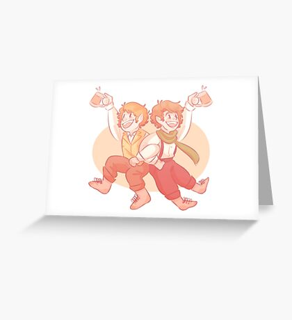 merry and pippin Greeting Card