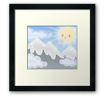 Cute Sky 30- Mountains Framed Print