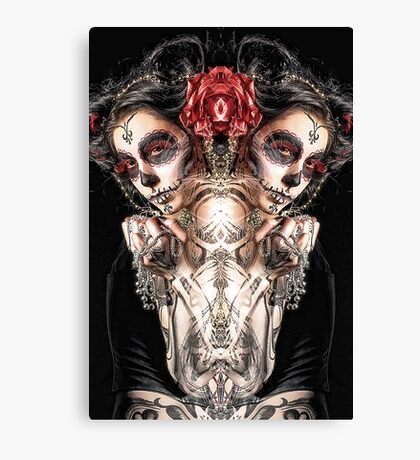Dark Thoughts Hot Girls And Anarchy Symbols Canvas Print