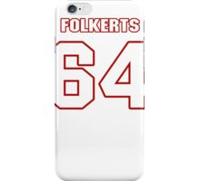NFL Player Brian Folkerts sixtyfour 64 iPhone Case/Skin