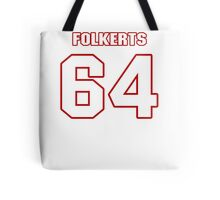 NFL Player Brian Folkerts sixtyfour 64 Tote Bag
