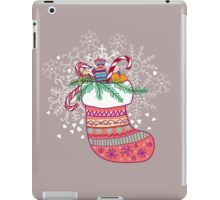 Xmas sock. Merry Christmas iPad Case/Skin