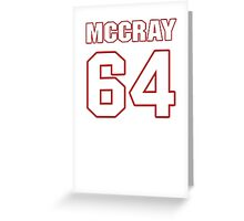 NFL Player Justin McCray sixtyfour 64 Greeting Card