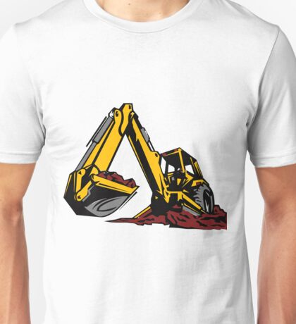 Construction Work Excavator Kids Boys Girls Men Women Unisex T-Shirt