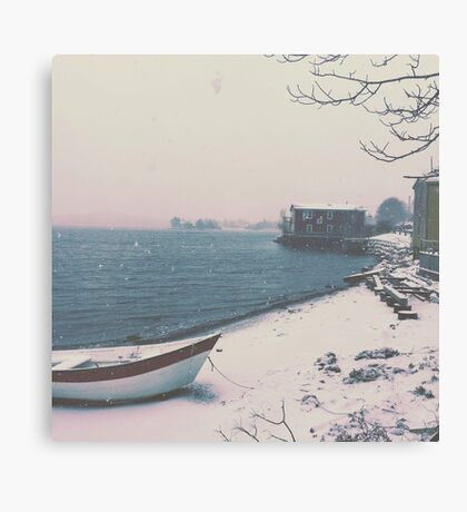 Winter By the Sea Canvas Print