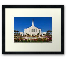 Gilbert Arizona Temple - Front Flowers - 30x20 Framed Print