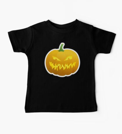 Jack O' Lantern, Halloween, Pumpkin, on BLACK Baby Tee
