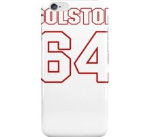 NFL Player Kedric Golston sixtyfour 64 iPhone Case/Skin