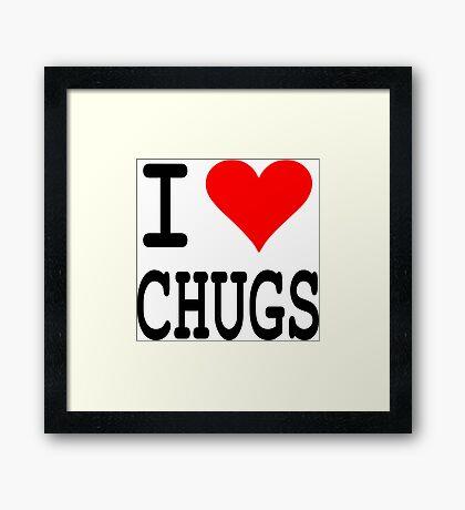 Chugs Framed Print