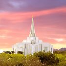 Gilbert Arizona Temple - Summer Sunrise 30x20 by Ken Fortie